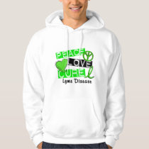 Peace Love Cure Lyme Disease 1 Hoodie