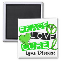 Peace Love Cure Lyme Disease 1 Magnet