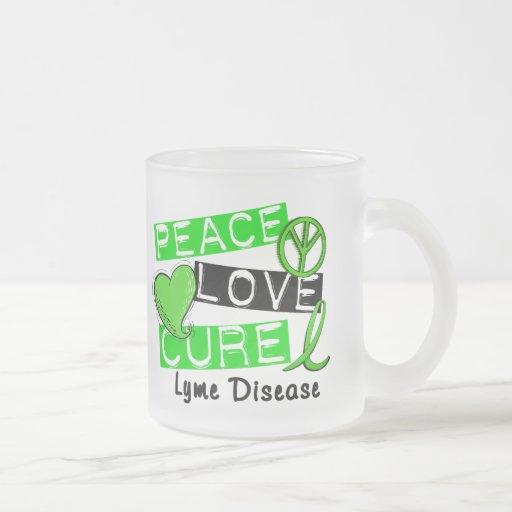 Peace Love Cure Lyme Disease 1 Mugs