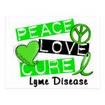 Peace Love Cure Lyme Disease 1 Post Cards