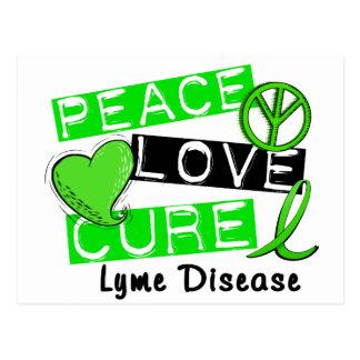 Peace Love Cure Lyme Disease 1 Postcard