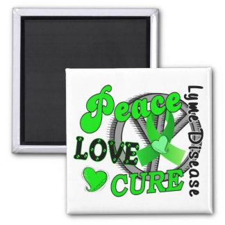 Peace Love Cure Lyme Disease 2 Magnet