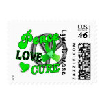 Peace Love Cure Lyme Disease 2 Stamp