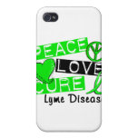 Peace Love Cure Lyme Disease Case For iPhone 4