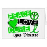 Peace Love Cure Lyme Disease Greeting Card