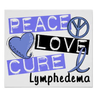 Peace Love Cure Lymphedema Poster