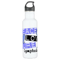 Peace Love Cure Lymphedema Stainless Steel Water Bottle