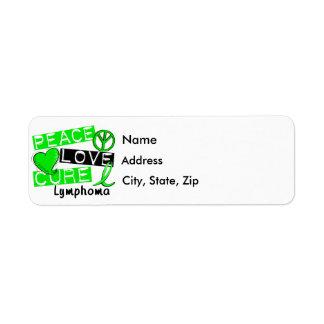 Peace Love Cure Lymphoma Label