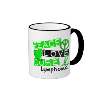 Peace Love Cure Lymphoma Mug