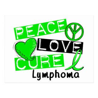 Peace Love Cure Lymphoma Postcard