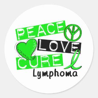 Peace Love Cure Lymphoma Sticker