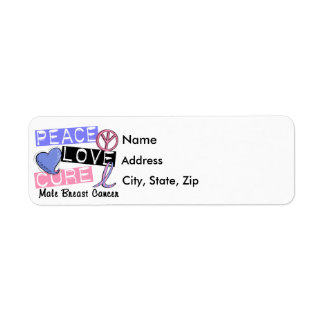 Peace Love Cure Male Breast Cancer Label