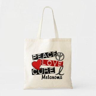Peace Love Cure Melanoma Budget Tote Bag