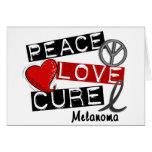PEACE LOVE CURE MELANOMA GREETING CARDS
