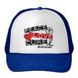 PEACE LOVE CURE MELANOMA MESH HAT