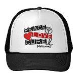 PEACE LOVE CURE MELANOMA MESH HATS