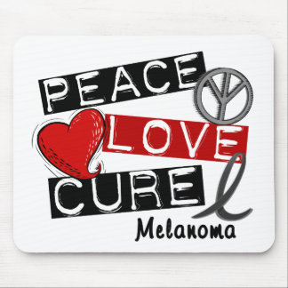 PEACE LOVE CURE MELANOMA MOUSE PAD