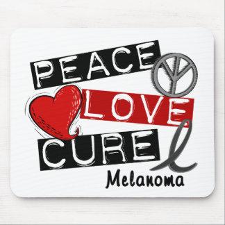 PEACE LOVE CURE MELANOMA MOUSE PAD