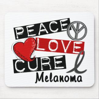 Peace Love Cure Melanoma Mousepads