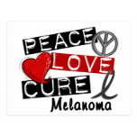 Peace Love Cure Melanoma Postcard