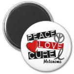 PEACE LOVE CURE MELANOMA Shirts & Gifts Magnets