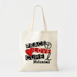Peace Love Cure Melanoma Tote Bag