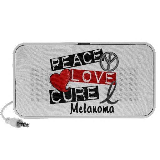 Peace Love Cure Melanoma Travel Speakers