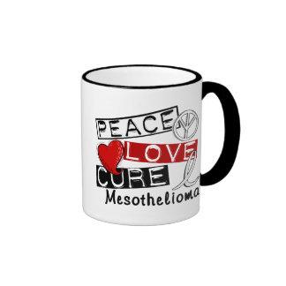 Peace Love Cure Mesothelioma Coffee Mugs