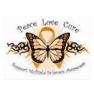 Peace Love Cure MS Postcard