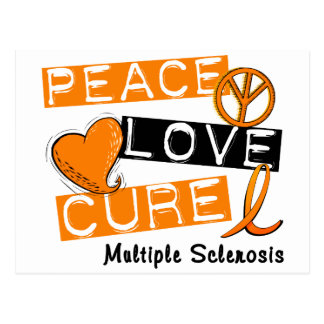 PEACE LOVE CURE MS T-Shirts, Apparel, & Gifts Postcard