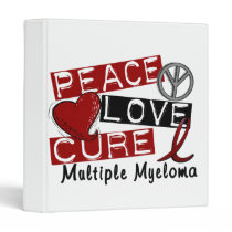 Peace Love Cure Multiple Myeloma Binder