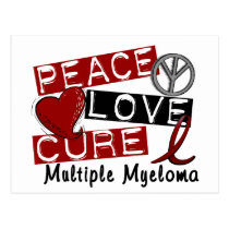 Peace Love Cure Multiple Myeloma Postcard