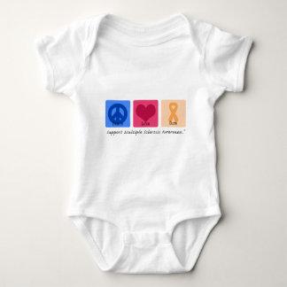 Peace Love Cure Multiple Sclerosis Baby Bodysuit