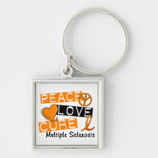 Peace Love Cure Multiple Sclerosis MS Keychain