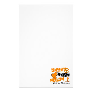 Peace Love Cure Multiple Sclerosis MS Stationery