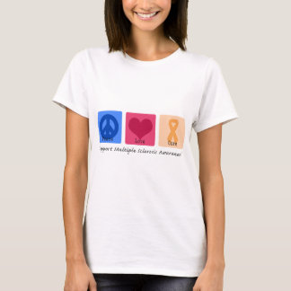 Peace Love Cure Multiple Sclerosis T-Shirt