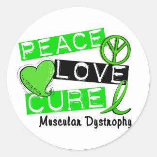 PEACE LOVE CURE MUSCULAR DYSTROPHY STICKER