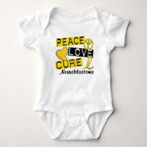 Peace Love Cure Neuroblastoma Baby Bodysuit