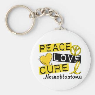 Peace Love Cure Neuroblastoma Keychain