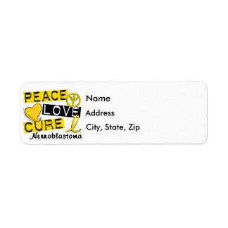 Peace Love Cure Neuroblastoma Custom Return Address Label