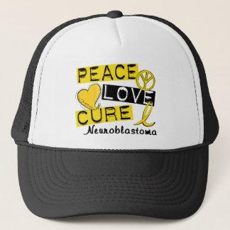 Peace Love Cure Neuroblastoma Trucker Hat
