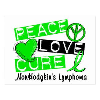 Peace Love Cure Non-Hodgkin's Lymphoma Postcard