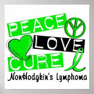 Peace Love Cure Non-Hodgkin's Lymphoma Posters