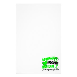 Peace Love Cure Non-Hodgkin's Lymphoma Stationery
