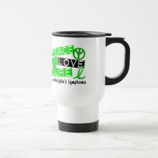 Peace Love Cure Non-Hodgkin's Lymphoma Travel Mug