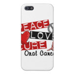 Peace Love Cure Oral Cancer iPhone 5 Case