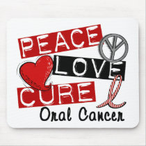 Peace Love Cure Oral Cancer Mouse Pad