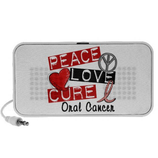 Peace Love Cure Oral Cancer Mp3 Speakers