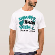 Peace Love Cure Ovarian Cancer T-Shirt