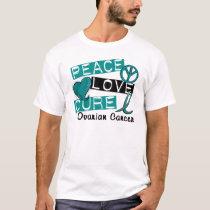 Peace Love Cure Ovarian Cancer T-Shirt